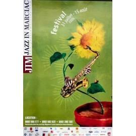 affiche ( format 40 X 60 cm  pliée en deux ) jazz in marciac 2006