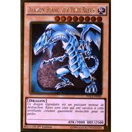 carte YU-GI-OH GOLD PGL2-FR080 Dragon Blanc Aux Yeux Bleus NEUF FR