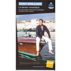 plv 14x25cm cartonnée rigide DANY BRILLANT le dernier romantique / magasins FNAC