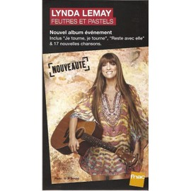 plv 14x25cm cartonnée rigide LYNDA LEMAY feutres et pastels / magasins FNAC