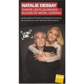 plv 14x25cm cartonnée rigide NATALIE DESSAY chante MICHEL LEGRAND / magasins FNAC