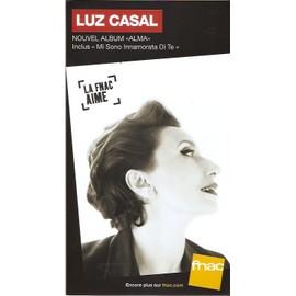 plv 14x25cm cartonnée rigide LUZ CASAL alma / magasins FNAC