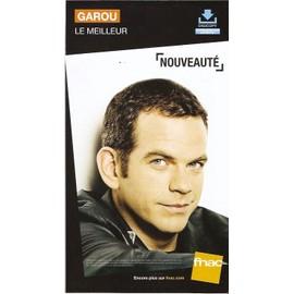plv 14x25cm cartonnée rigide GAROU le meilleur / magasins FNAC