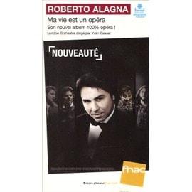 plv 14x25cm cartonnée rigide ROBERTO ALAGNA ma vie est un opéra / magasins FNAC
