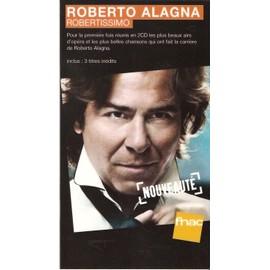 plv 14x25cm cartonnée rigide ROBERTO ALAGNA robertissimo / magasins FNAC