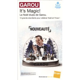 plv 14x25cm cartonnée rigide GAROU it's magic ( noel ) / magasins FNAC