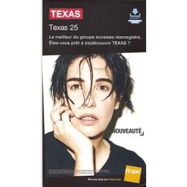 plv 14x25cm cartonnée rigide TEXAS , texas 25 / magasins FNAC