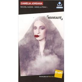 plv 14x25cm cartonnée rigide CAMELIA JORDANA dans la peau / magasins FNAC