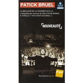 plv 14x25cm cartonnée rigide PATRICK BRUEL tournée 2013/2014 / magasins FNAC