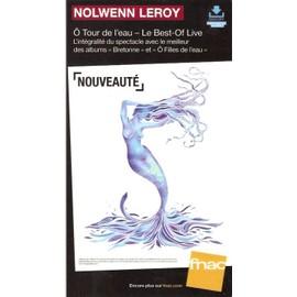 plv 14x25cm cartonnée rigide NOLWENN LEROY Ô tour de l'eau best of live / magasins FNAC