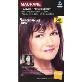 plv 14x25cm cartonnée rigide MAURANE ouvre / magasins FNAC