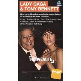 plv 14x25cm cartonnée rigide TONY BENNETT et LADY GAGA cheek to cheek / magasins FNAC