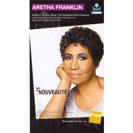 plv 14x25cm cartonnée rigide ARETHA FRANKLIN sings the greatest diva classics / magasins FNAC
