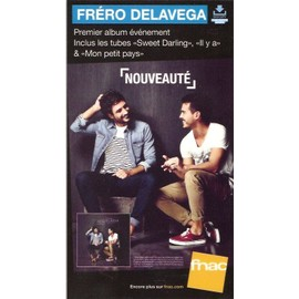plv 14x25cm cartonnée rigide FRERO DELAVAGA premier album / magasins FNAC