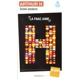 plv 14x25cm cartonnée rigide ARTHUR H ( higelin ) SOLEIL DEDANS / magasins FNAC