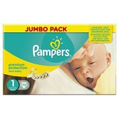 Pampers New Baby Couches 2 � 5 Kg Taille 1 Jumbo Pack X 72 Changes