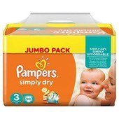 Pampers Couches Simply Dry Jumbo Pack Taille 3 Midi 4 � 9 Kg X 90 Changes
