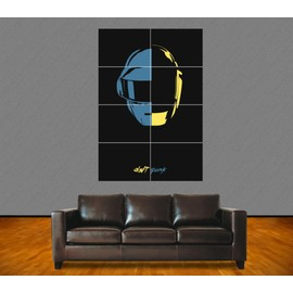 "Poster Géant ""Daft Punk"". N°1. French Touch. Electro. Dj. Musique. 118x84 Cm. Format A0."