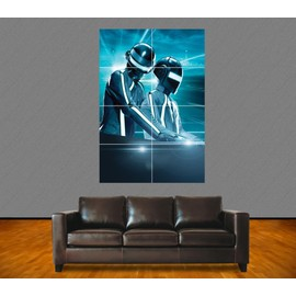 "Poster Géant ""Daft Punk"". N°2. Tron. French Touch. Electro. Dj. Musique. 118x84 Cm. Format A0."