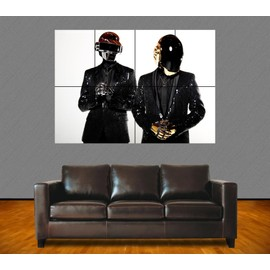 "Poster Géant ""Daft Punk"". N°3. French Touch. Electro. Dj. Musique. 84x118 Cm. Format A0."