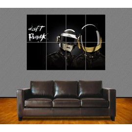 "Poster Géant ""Daft Punk"". N°6. Fan Art. French Touch. Electro. Dj. Musique. 84x118 Cm. Format A0."