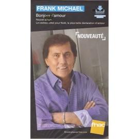 plv 14x25cm cartonnée rigide FRANK MICHAEL bonjour l'amour / magasins FNAC