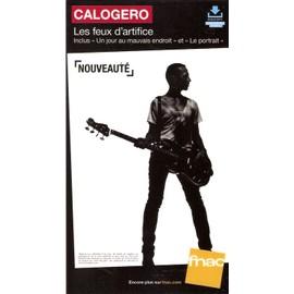 plv 14x25cm cartonnée rigide CALOGERO les feux d'artifice / magasins FNAC