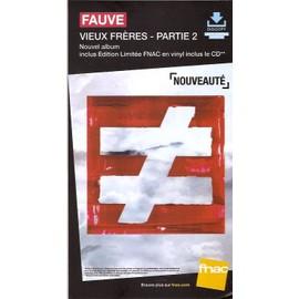 plv 14x25cm cartonnée rigide FAUVE vieux frères - partie 2 / magasins FNAC