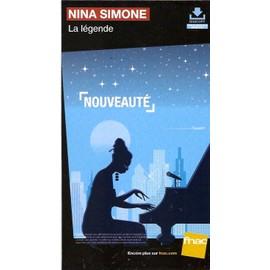 plv 14x25cm cartonnée rigide NINA SIMONE la légende / magasins FNAC