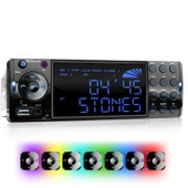 Autoradio Bluetooth Usb Sd Xomax Xm-Rsu236bt / Bluetooth + 7 Led + Usb + Mp3 + 1din + Aux-In
