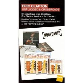plv 14x25cm cartonnée rigide ERIC CLAPTON unplugged & crossroads / magasins FNAC