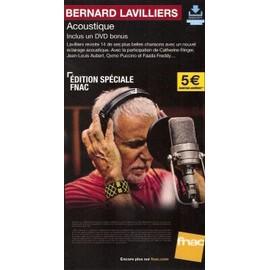 PLV 14x25cm cartonnée rigide BERNARD LAVILLIERS acoustique / magasins FNAC