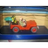 Voiture Tintin Atlas La Jeep Rouge De Tintin Au Pays De L'or Noir