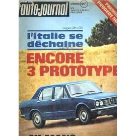 L'auto-Journal - N°11 - Jeudi 3 Juin 1971 - L'italie Se Dechaine Encore 3 Prototypes - Essais Alfa Romeo 1750, Peugeot 504 Break, Moto: Suzuki 250, Remorque: Lama 240, Les Taxis De Manille: ...