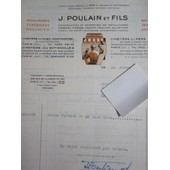 Facture: J. Poulain & Fils, Monuments Fun�raires, Dallages. 1950