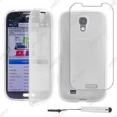 Ebeststar � Housse Etui Coque Portefeuille Livre Silicone Gel Pour Samsung Galaxy S4 I9500 I9505, Couleur Transparent + Mini Stylet + Film Protection D'�cran