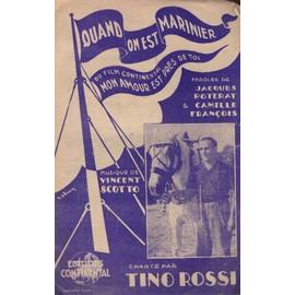 """""""Quan on ets marinier"""" du film """"Mon amour est près de toi""""chanté par Tino Rossi ("""