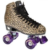 Roller Quad Patin Complet Classic Gold Leopard - Taille 37
