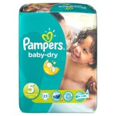 Pampers Baby Dry Taille 5 (Junior) 11 A 25 Kg Couches Paquet X23 Changes