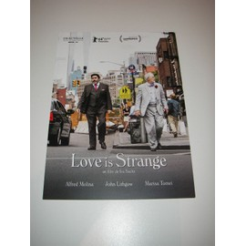 Carte d'invitation projection presse film LOVE IS STRANGE Molina Lithgow Tomei