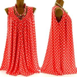 Tunique Robe Grande Taille Grande 44/58 Haut - Cerise - Femme - Charleselie94