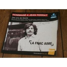 plv 30x30cm souple hommage à JEAN FERRAT des airs de libertés / magasins FNAC