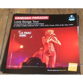 plv souple 30x30cm VANESSA PARADIS love songs tour / magasins FNAC