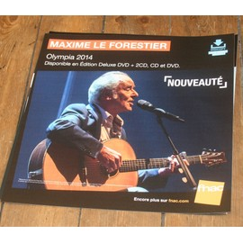 plv 30x30cm souple MAXIME LE FORESTIER Olympia 2014 / magasins FNAC