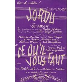 """""""Jordu"""" ou """"Cet Air-la"""" et """"Ce qu'il vous faut"""" (Contrebasse)"""