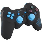 Manette Ps3 Sans Fil Bleue | Dragon Shock | 2 Moteurs De Vibrations Et C�ble Usb Inclus