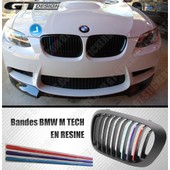 Kit Bandes Stripes En R�sine 3d Bmw M Tech 200 X 8 Mm Autocollant Sticker Pour Grille De Calandre Kidney Grill