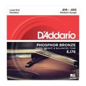 D'addario Phosphor Bronze Ej76 15-52 - Jeu De Cordes Mandole
