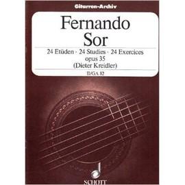 24 exercices opus 35 volume 2 - transcription pour guitare de D. Kreidler)