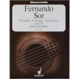 24 exercices opus 35 volume 1 (transcription pour guitare de D. Kreidler)